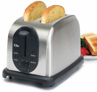 Elite Platinum Stainless Steel 2-Slice Toaster