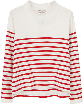 Opening Ceremony Cropped Red Stripe Top