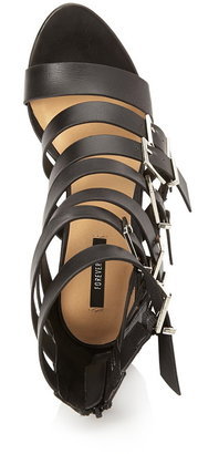 Forever 21 buckled faux leather sandals