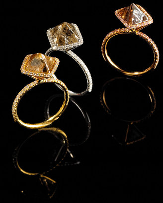Diamond in the Rough Dark Cognac Diamond Ring