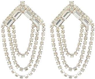 Susan Caplan Vintage 1980s Vintage Statement Crystal Earrings