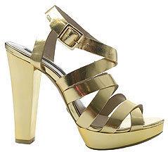 MANGO Sandals 6/1 Gold C