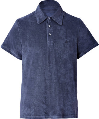 Vilebrequin Terry Cloth Pavois Polo Shirt in Navy
