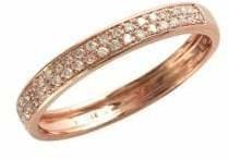 Effy 14K Rose Gold 0.19ct Diamond Ring