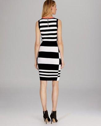 Karen Millen Dress - Sleeveless Color Block Knit