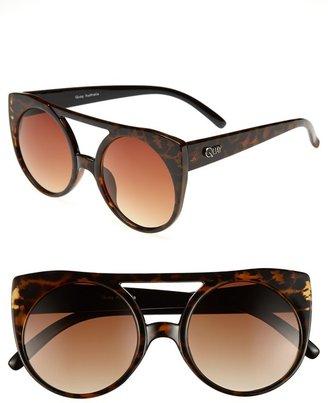 Cat Eye Quay 55mm Leopard Sunglasses
