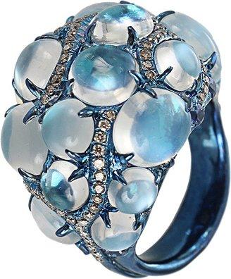 Arunashi Blue Moonstone Ring