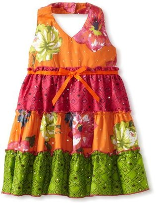 T&G Blueberi Boulevard Girls 2-6X TG Ruffle Tiered Sundress