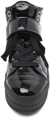 Sonia Rykiel High Top Sneaker in Black Croco