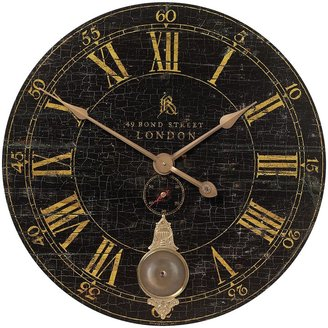 """Uttermost Bond Street Clock 2.5 x 30 x 30"""", Brass"""