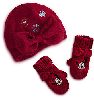 Disney Minnie Mouse Knit Cap and Mittens Set for Baby - Holiday