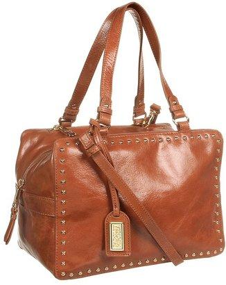 Badgley Mischka Nina Smooth Satchel (Cognac) - Bags and Luggage