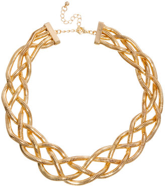 Asos Plaited Chain Choker Necklace