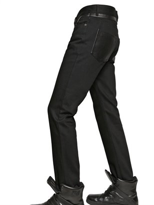 Givenchy 18.5cm Leather And Cotton Slim Fit Jeans