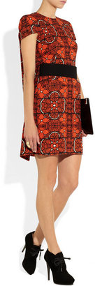 Alexander McQueen Printed wool-crepe dress