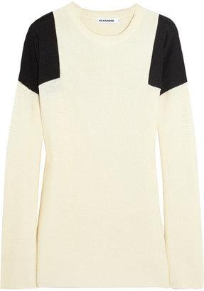 Jil Sander Two-tone silk sweater