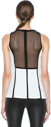 A.L.C. Zaha Silk Poly Top in White & Black