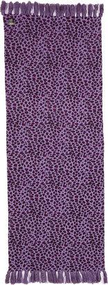 Neiman Marcus Rabbit-Edge Paisley & Leopard-Print Wrap