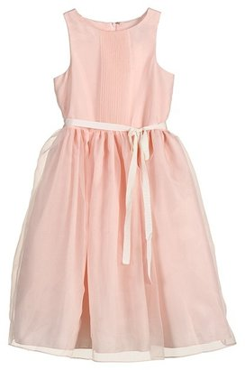 Us Angels Pleated Bodice Dress (Big Kids) (Blush Pink) - Apparel
