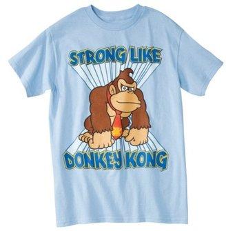Donkey Kong Men's Graphic Tee - Light Blue
