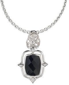 Laura Alexander Love and Light Black Onyx Pendant Necklace
