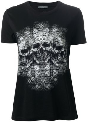 Alexander McQueen stain glass skull t-shirt
