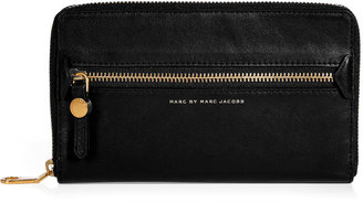 Marc by Marc Jacobs Black Leather Travel Wallet
