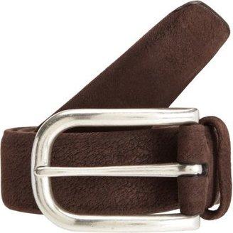 Barneys New York Washed Suede Leather Belt