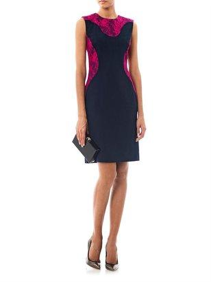 Erdem Jenna contrast lace detail dress