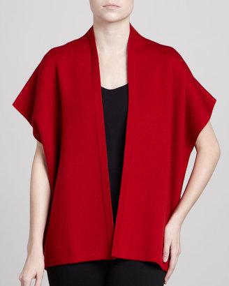 Michael Kors Short-Sleeve Open Cardigan