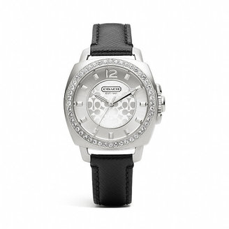 Coach Mini Boyfriend Stainless Steel Crystal Strap Watch