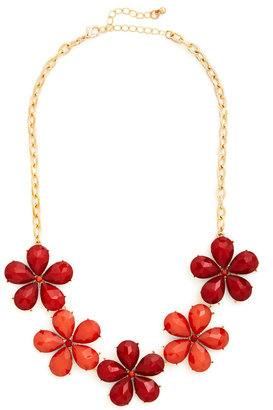 Impatiens are a Virtue Necklace in Red