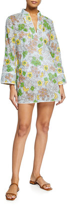Tory Burch Floral-Print Cotton Voile Tunic