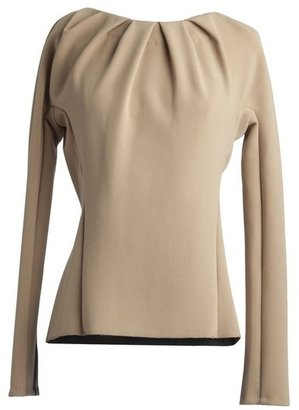 Alexis Mabille Pleated Neck Top