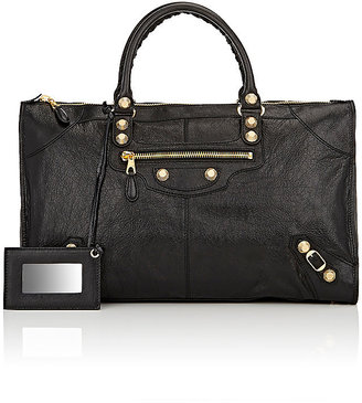 Balenciaga Women's Arena Leather Giant Work Bag $2,195 thestylecure.com