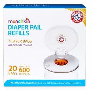 Munchkin Arm & Hammer Diaper Pail Snap, Seal and Toss Refill Bags, 600ct, 20pk