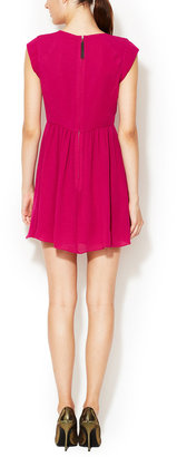 Rebecca Taylor Easy Crepe Cap Sleeve Dress