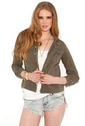 Current/Elliott Current Elliott Current Elliott The Battalion Jacket in Army Repair as Seen On Emma Stone