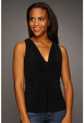 Kenneth Cole New York - Solid Draped Top (Black) - Apparel