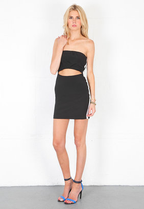 Naven Sporty Tube Cut Out Dress in Black