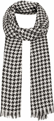 Topshop Mid weight mini dogtooth scarf