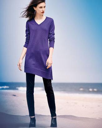 Eileen Fisher Long-Sleeve V-Neck Asymmetric Tunic