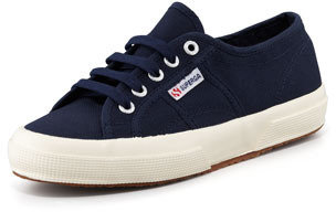 Superga Cotu Flat Canvas Sneaker, Navy