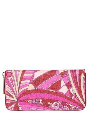 Emilio Pucci Chicago Print Pvc Zip Around Wallet