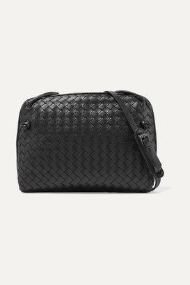 Bottega Veneta - Messenger Small Intrecciato Leather Shoulder Bag - Black $1,580 thestylecure.com