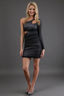 Boulee Ciara Long Sleeve Dress in Black 1