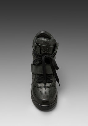 Ash Cool Wedge Sneaker in Black All Vintage Metal