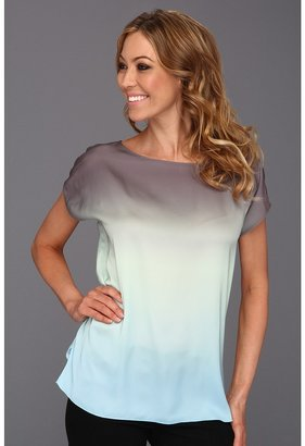 NYDJ Ombre Top Women's Short Sleeve Pullover