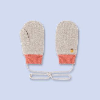 Jacadi Acorn print mittens