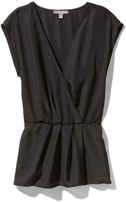 Juicy Couture Tinley Road Solid Surplice Woven Top
